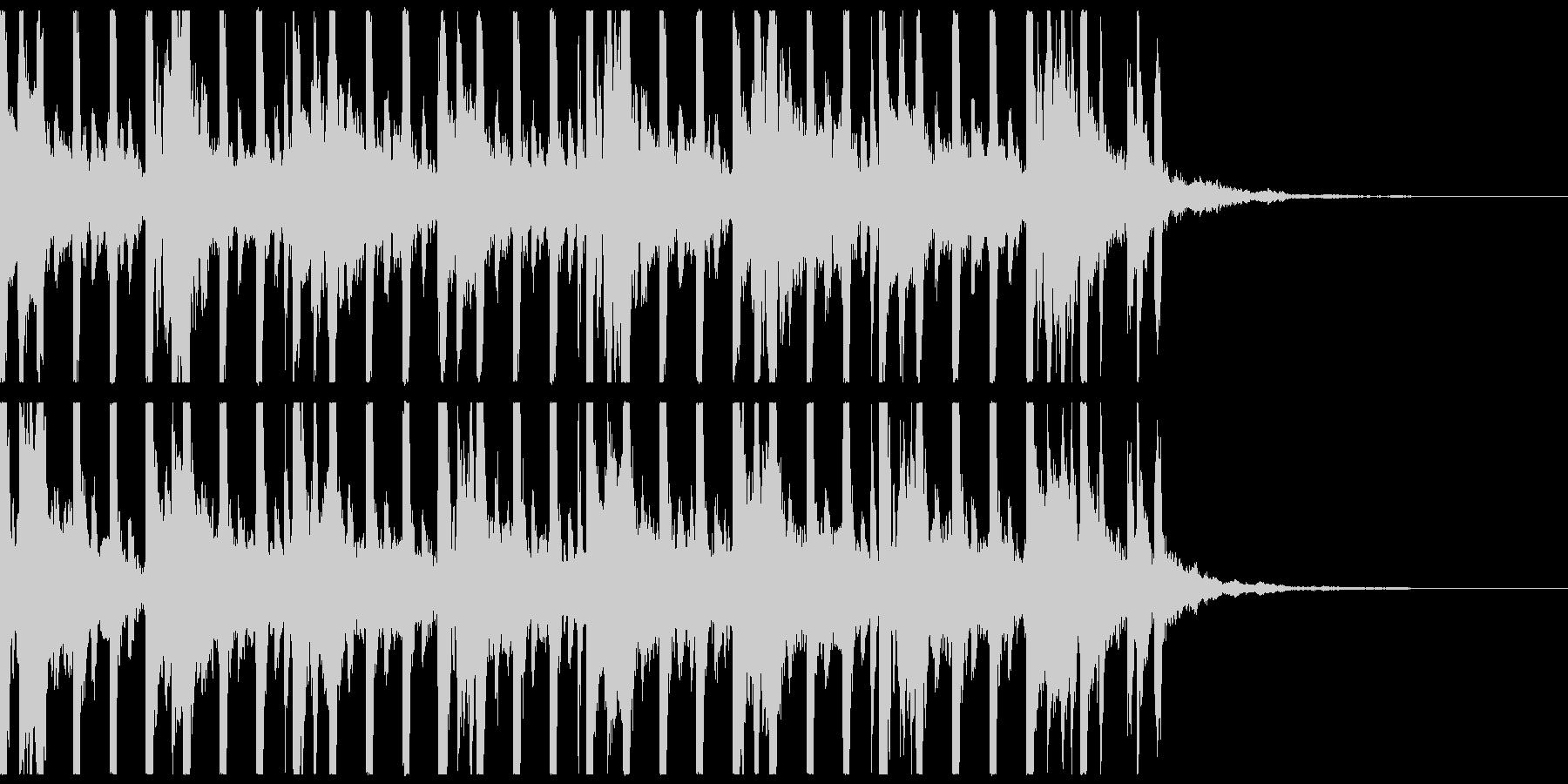 ゲーム、不規則ピアノメロディ、ショートの未再生の波形