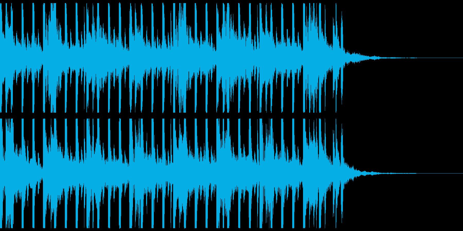 ゲーム、不規則ピアノメロディ、ショートの再生済みの波形