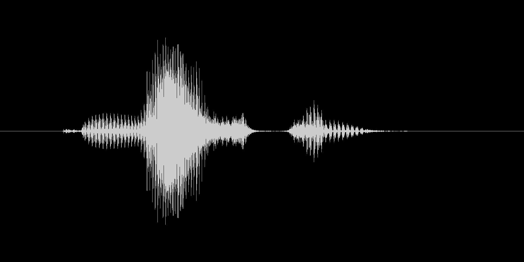 クエスチョンの未再生の波形