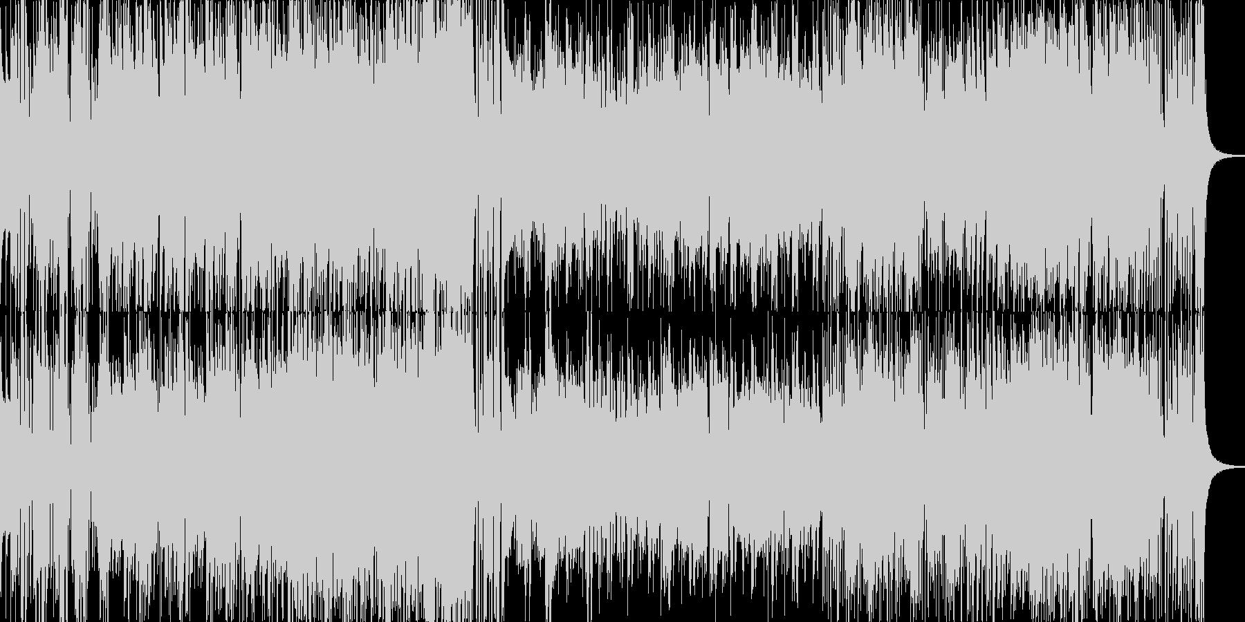 70年代風のジャズフュージョンの未再生の波形