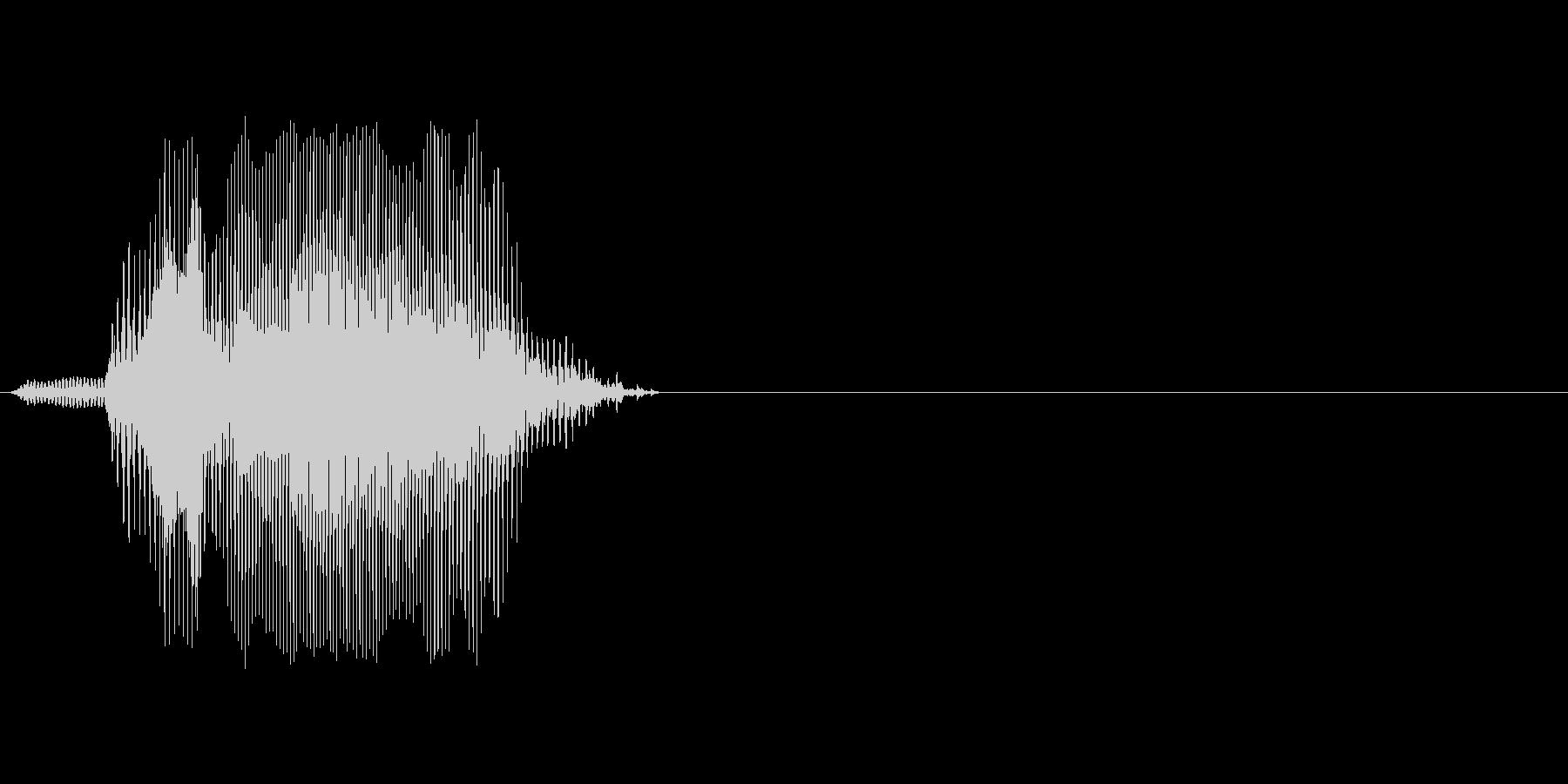 0(れい)の未再生の波形