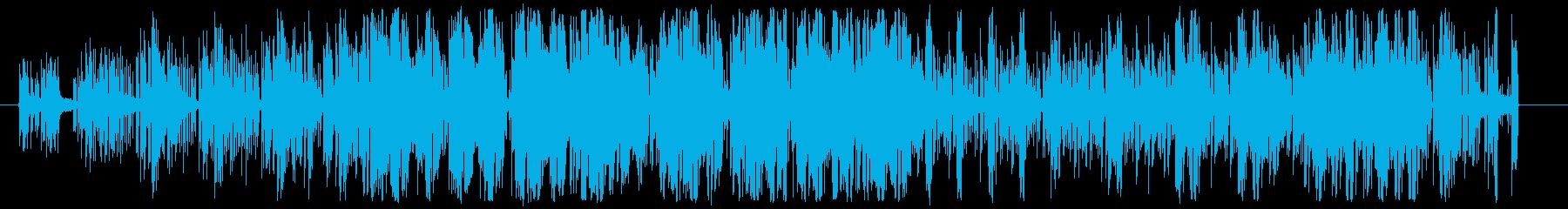おしゃれなエレクトロダンスミュージックの再生済みの波形
