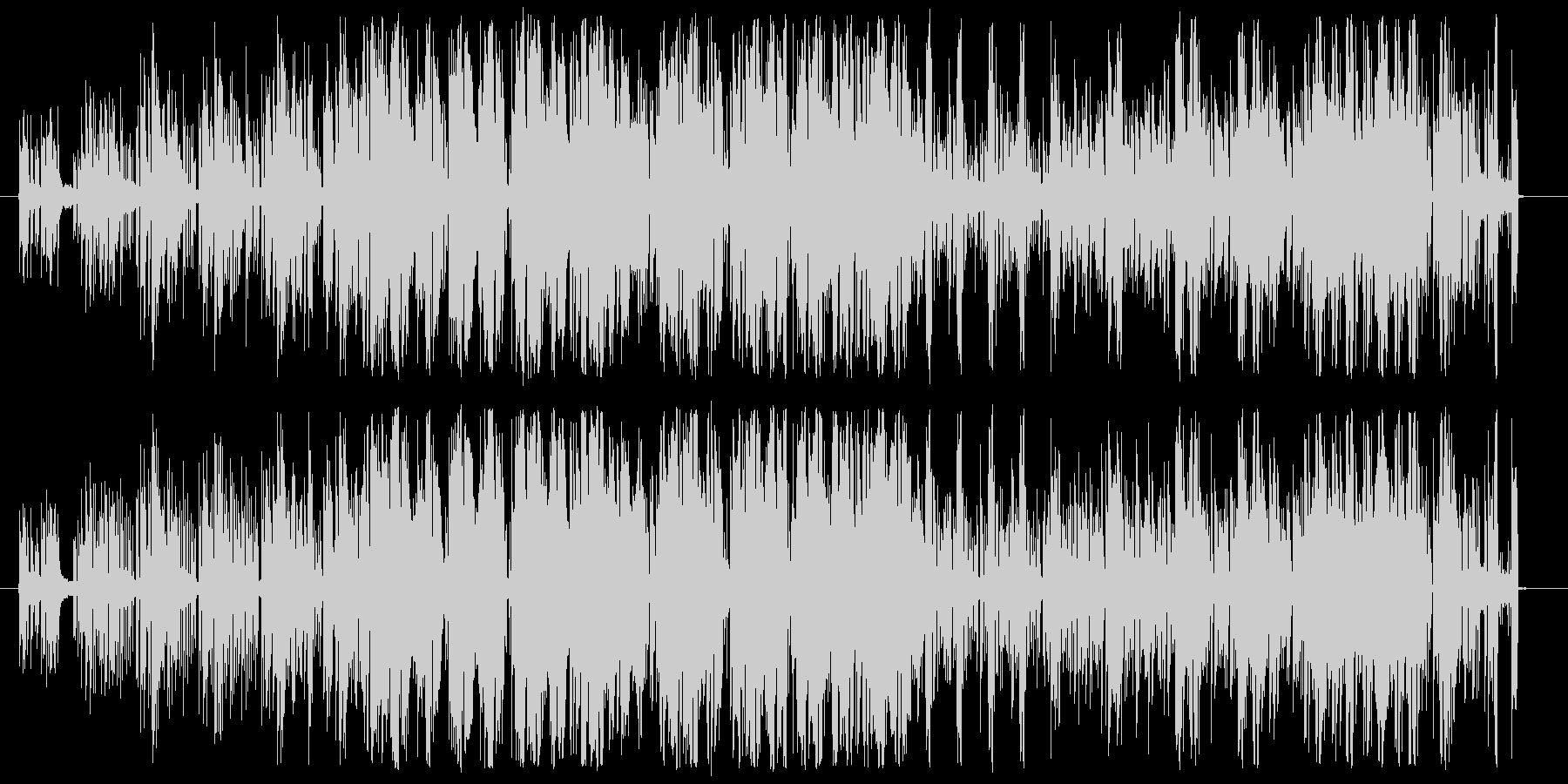 おしゃれなエレクトロダンスミュージックの未再生の波形