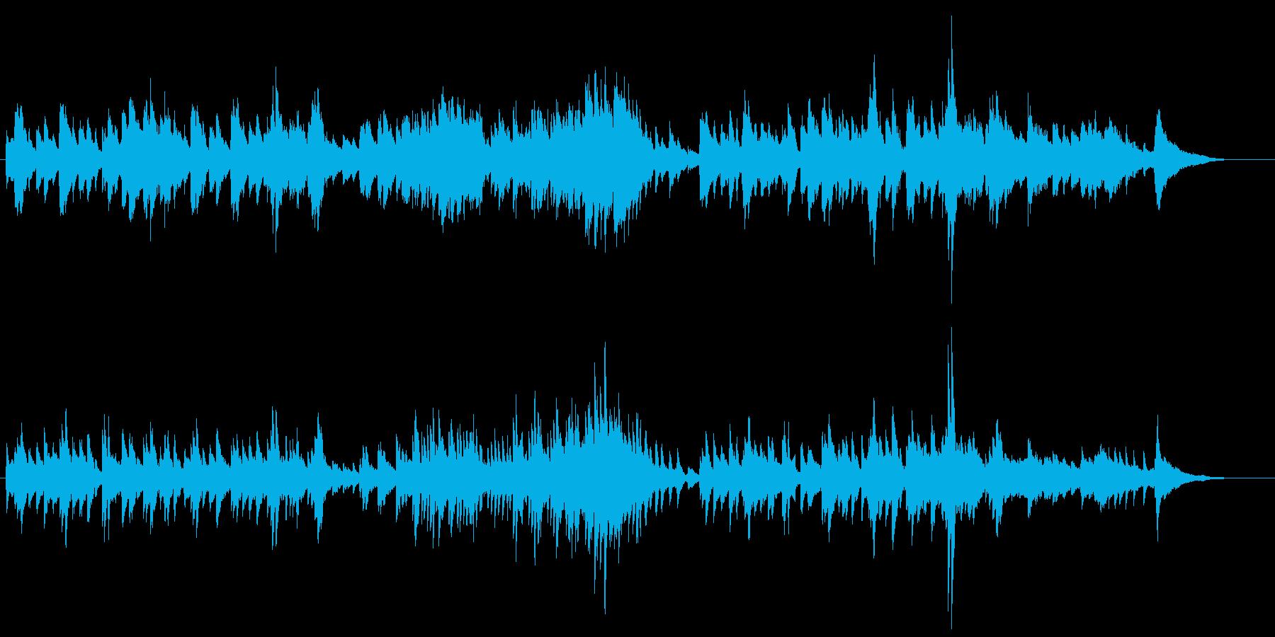 美しいピアニスティックなワルツの再生済みの波形