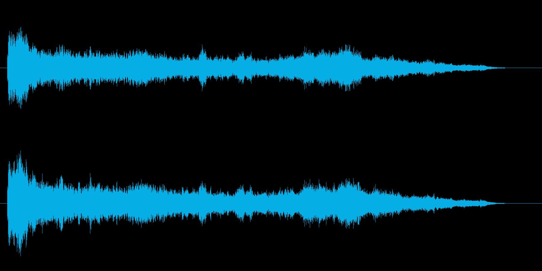 幻想的で不安な鐘の音の再生済みの波形