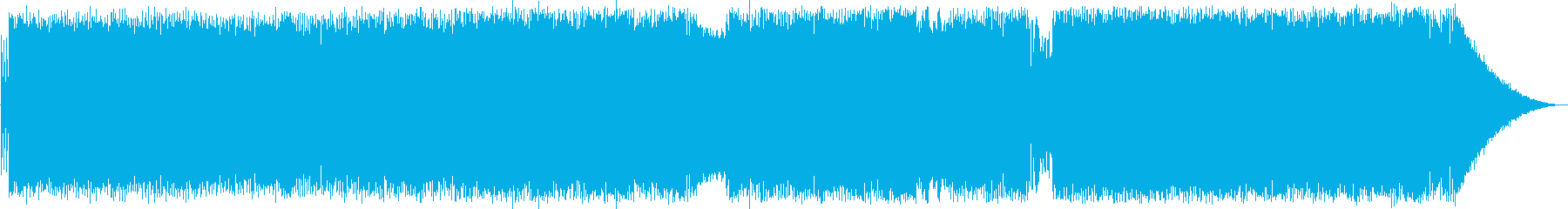 疾走感があり軽快なポップス曲の再生済みの波形
