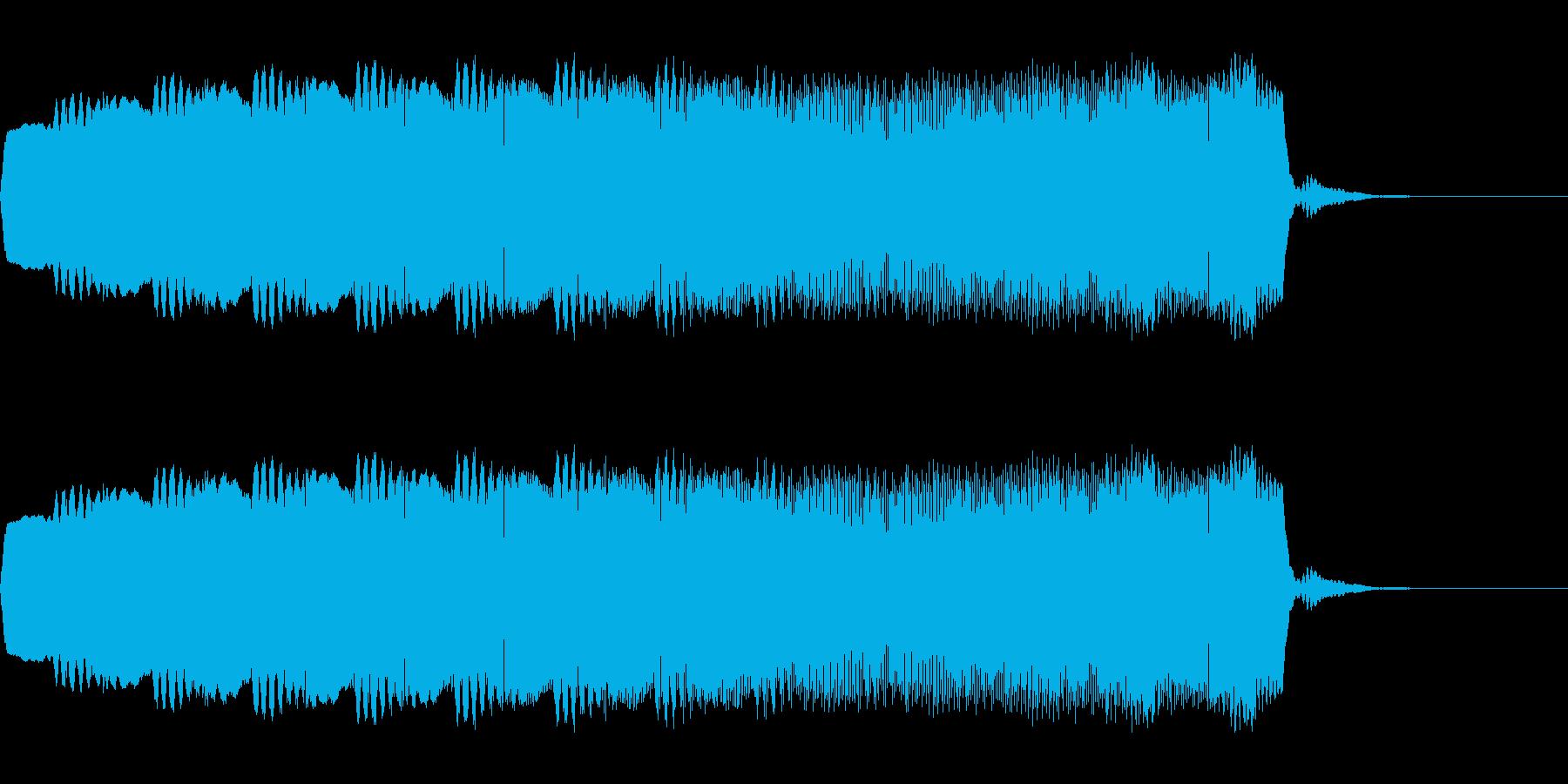 近未来的な電話の着信音の再生済みの波形