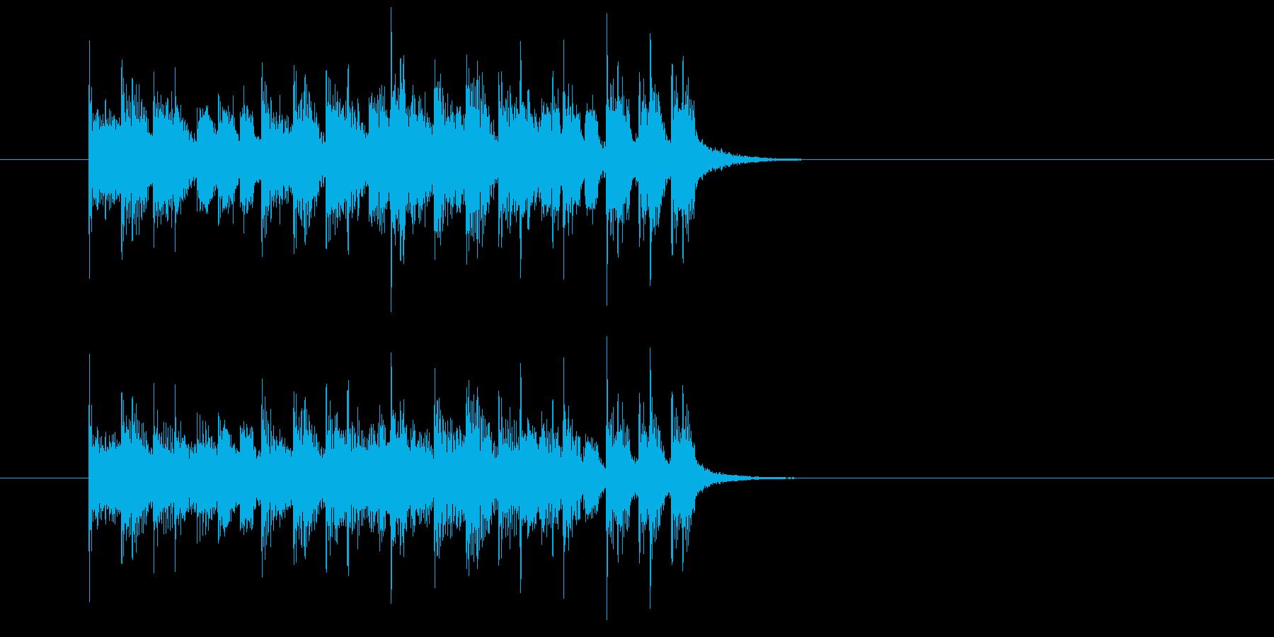 ジングル(豪快な感じ)の再生済みの波形