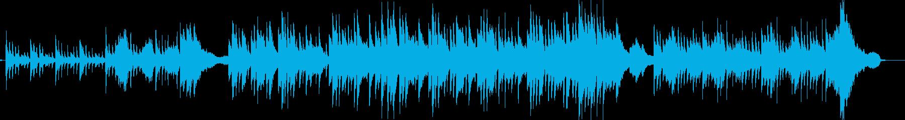 静かなピアノ・ヴァイオリン・アコギの楽曲の再生済みの波形