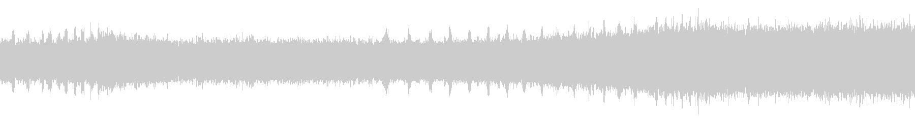 ツクツクボウシの鳴き声(遠距離で合唱)の未再生の波形