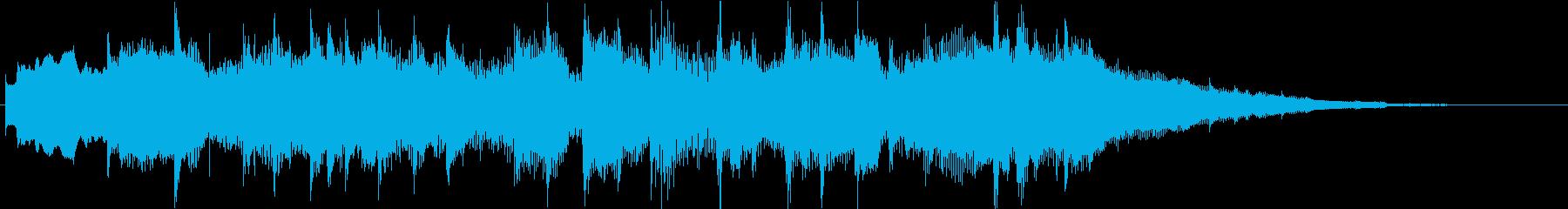 サウンドロゴやゲームなどに 和風ジングルの再生済みの波形