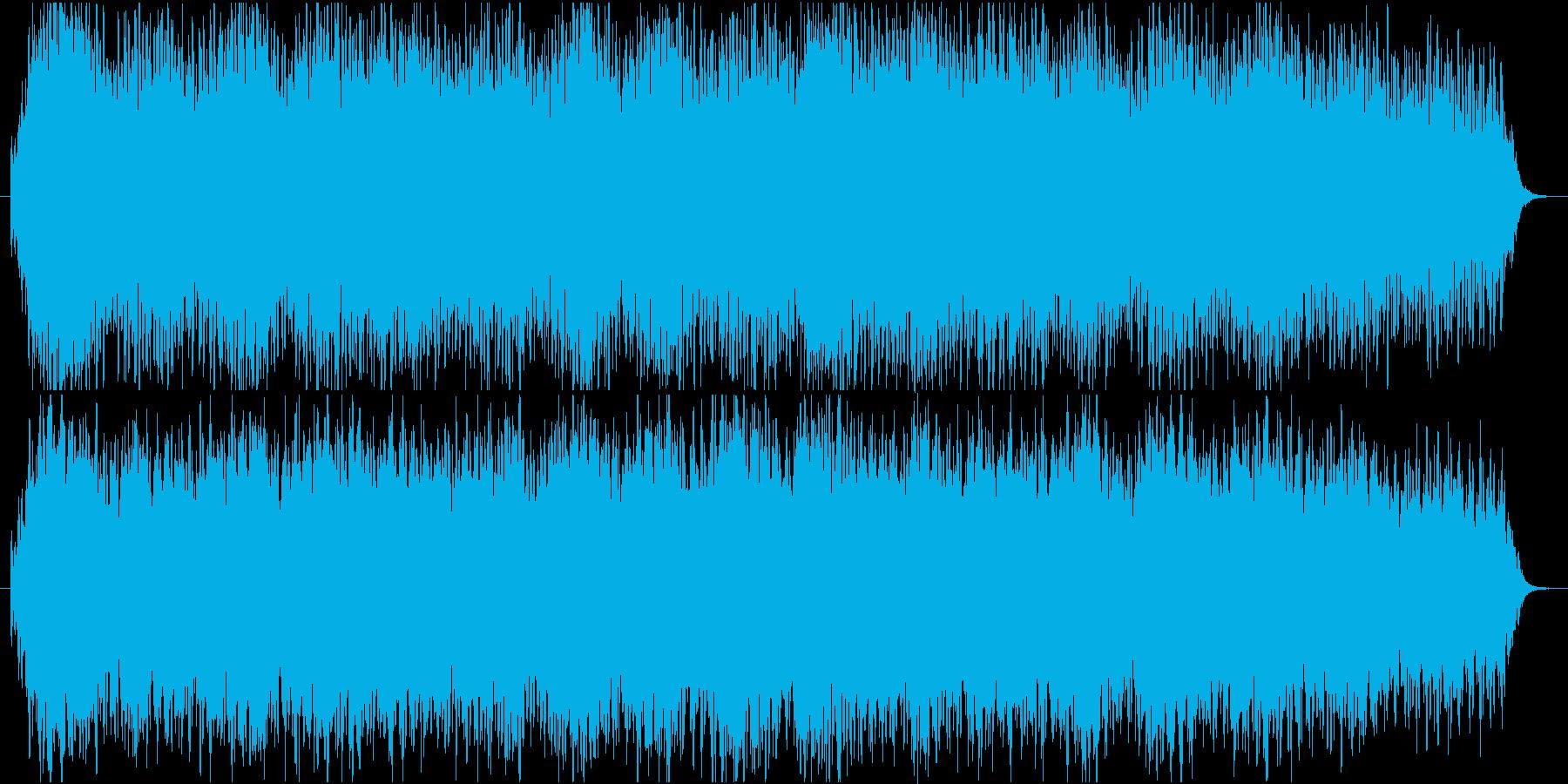 夢の中で浮遊しているイメージのBGMの再生済みの波形