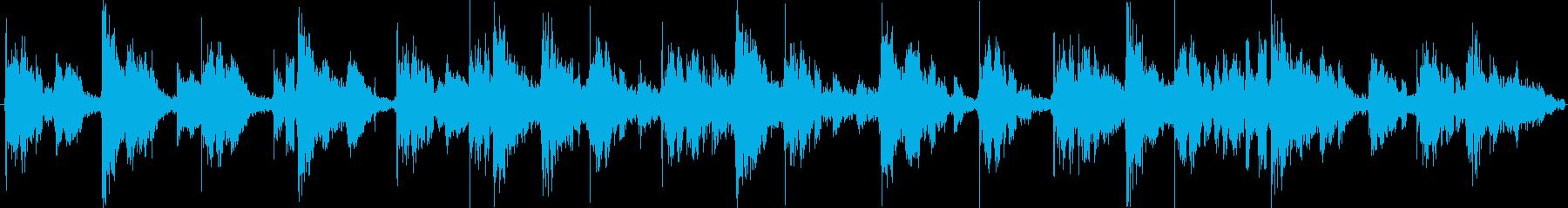 リズミカルで謎めいたローファイテクノの再生済みの波形
