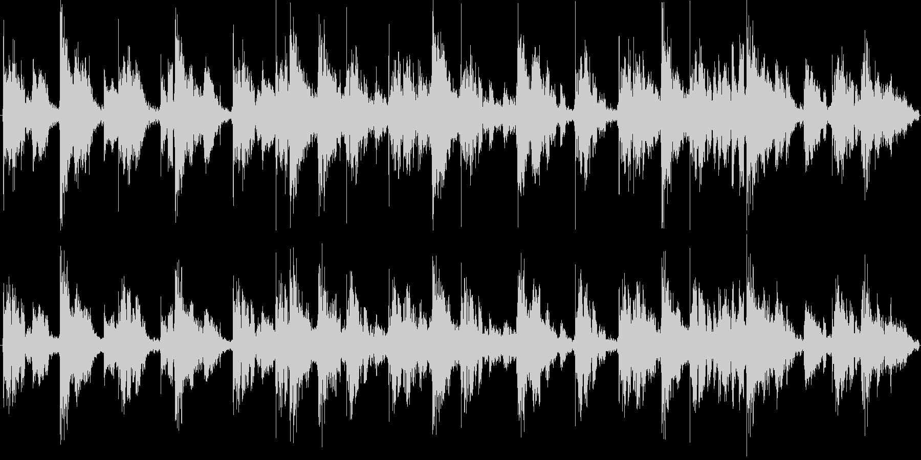 リズミカルで謎めいたローファイテクノの未再生の波形