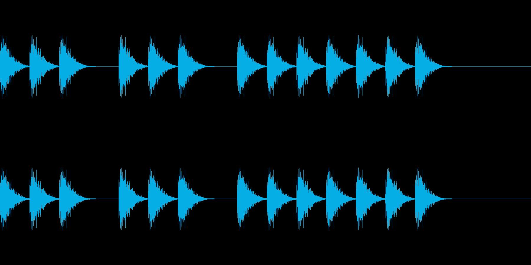 三三七拍子 その11 シャシャシャンの再生済みの波形
