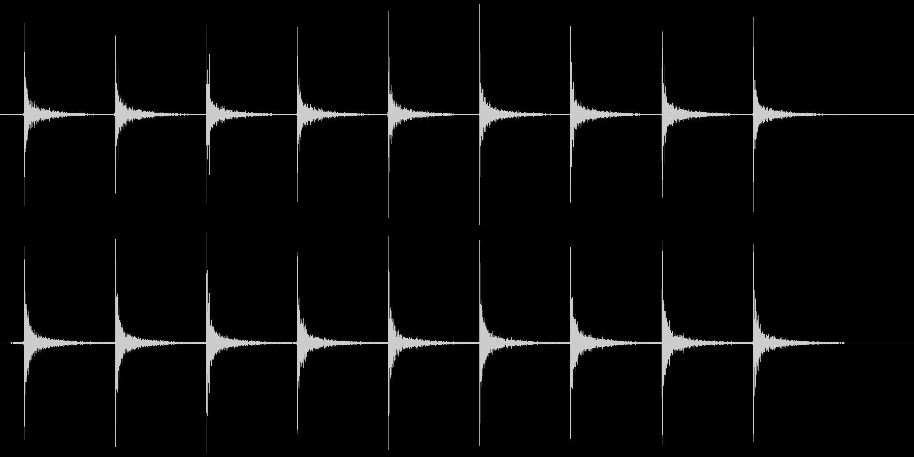 ガスコンロ 点火音(チッチッチッ…)の未再生の波形