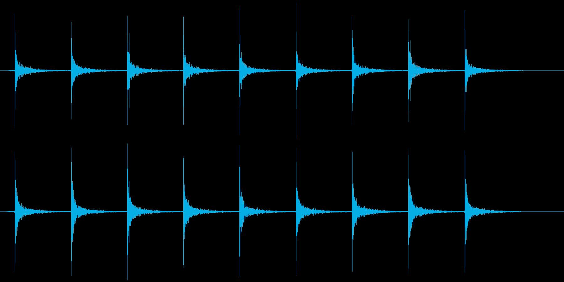 ガスコンロ 点火音(チッチッチッ…)の再生済みの波形