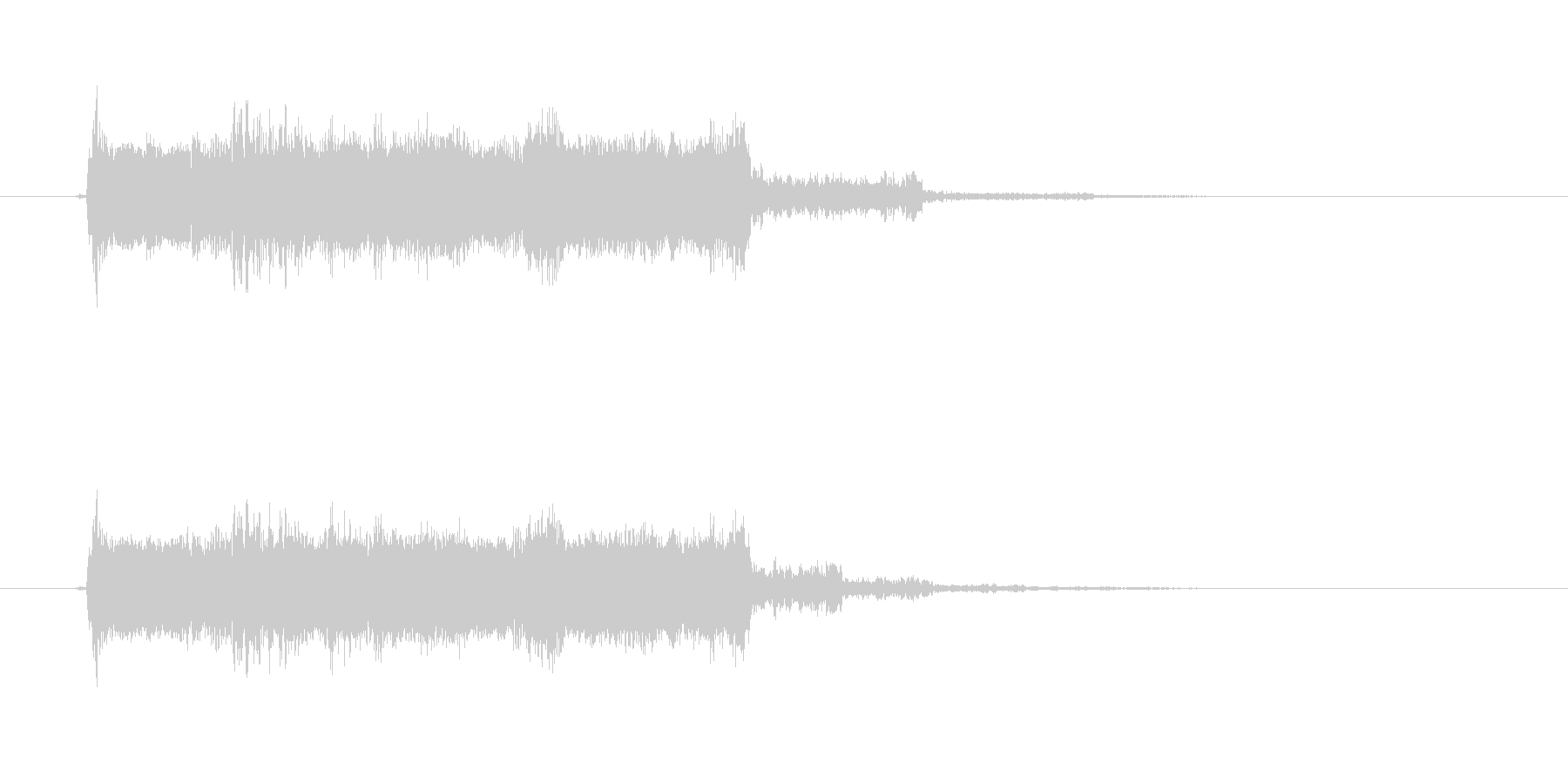 おしゃれギターサウンド(ジングル、転換)の未再生の波形