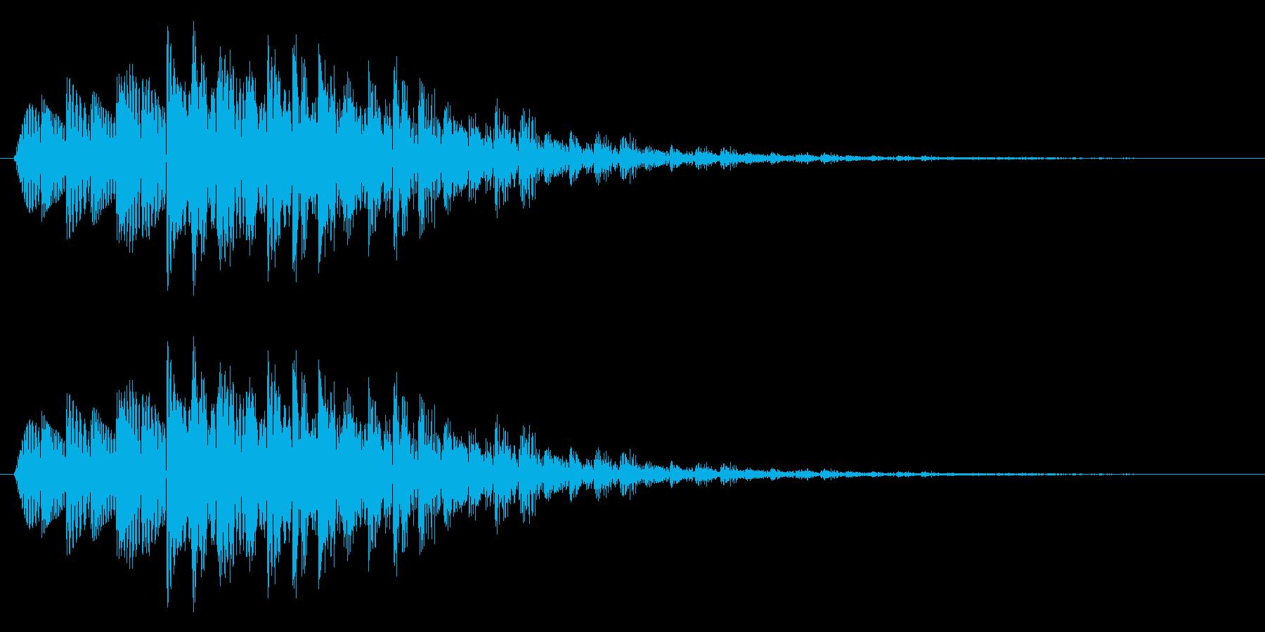 テロップ/下降/場面転換の再生済みの波形