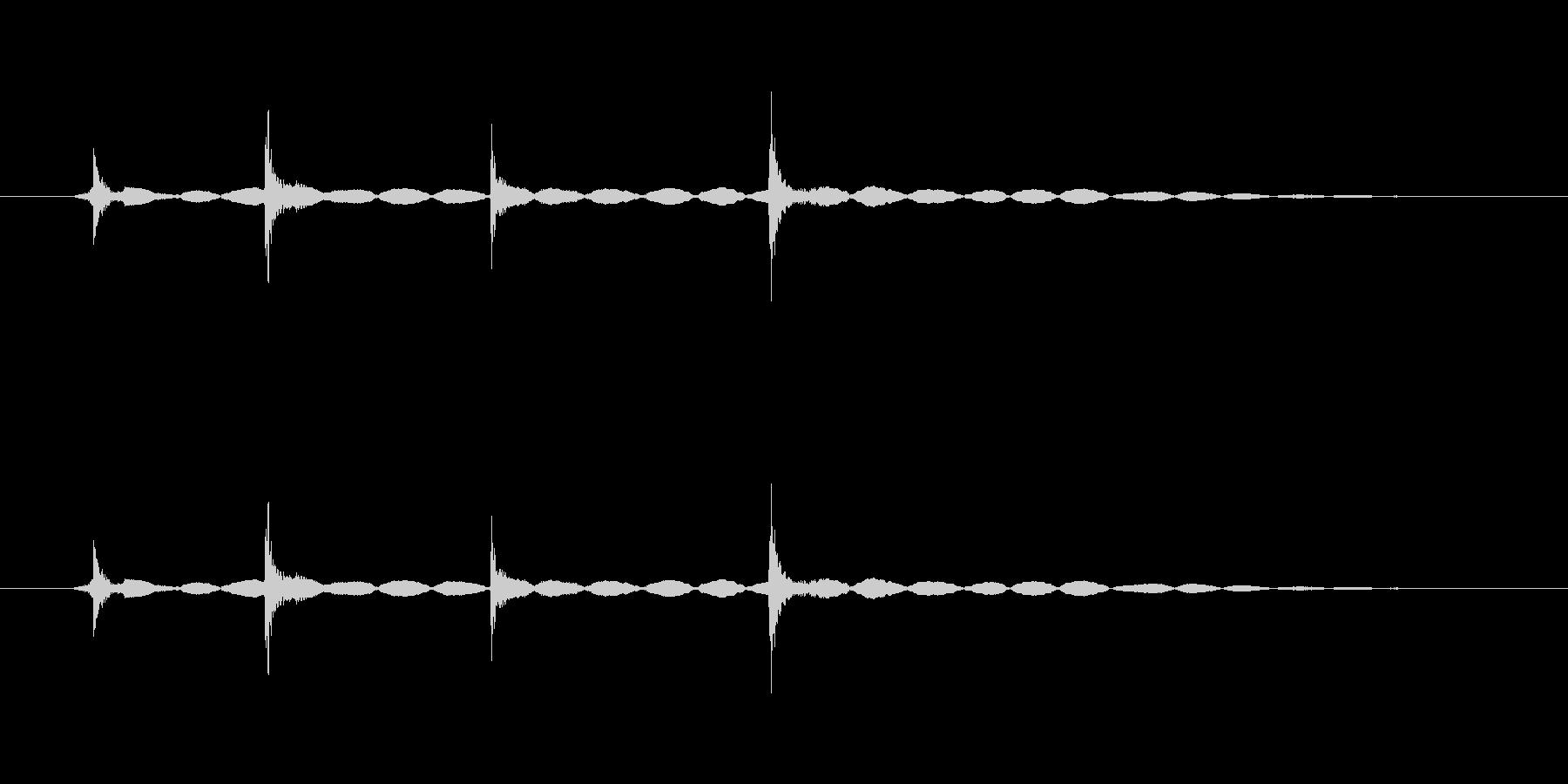 ダブルクリック音(カチカチッ、軽め)の未再生の波形