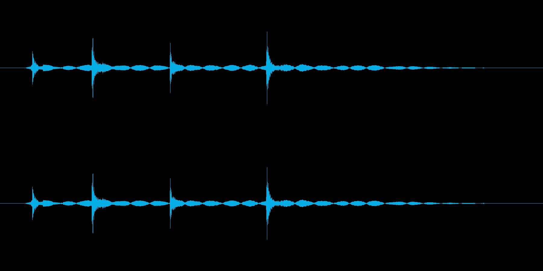 ダブルクリック音(カチカチッ、軽め)の再生済みの波形