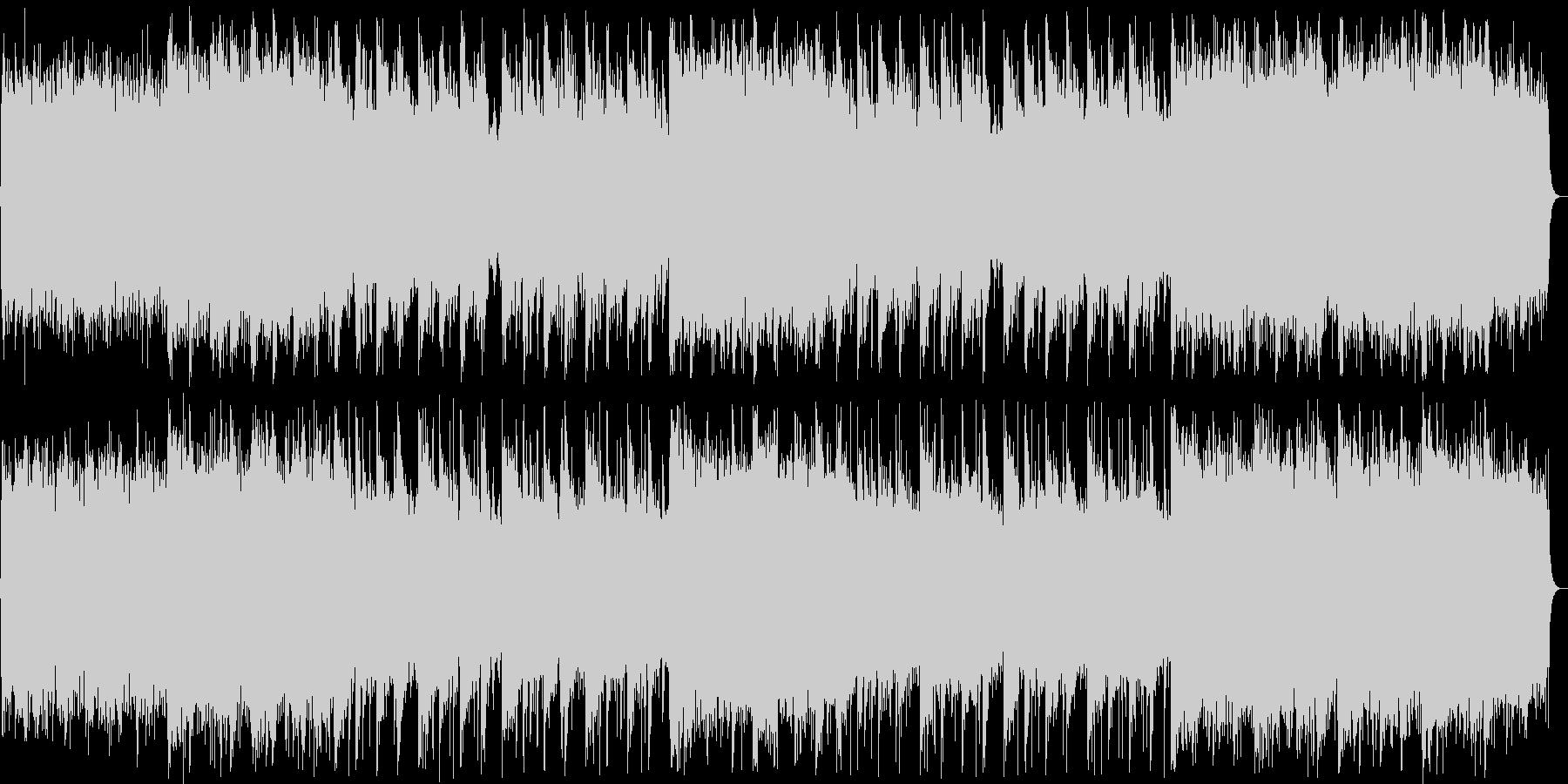 厳かな和風ミュージックの未再生の波形
