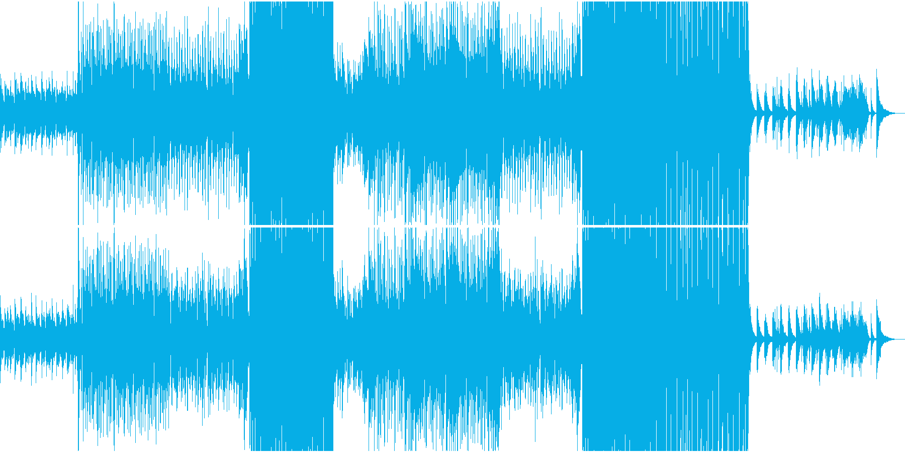 切ないR&Bバラードインストの再生済みの波形
