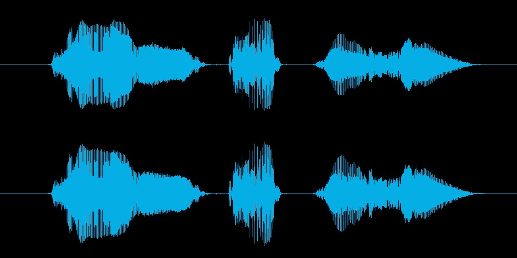 【勝利・自分】「わーい、かっちーぃ!」の再生済みの波形
