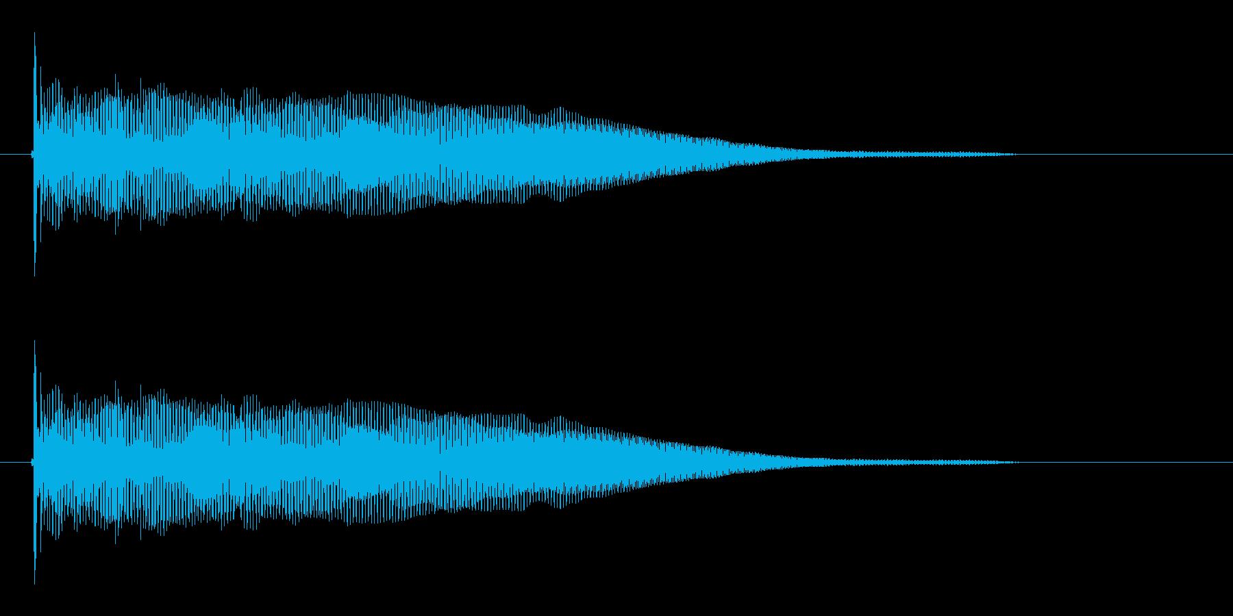 ドオーンという低音の再生済みの波形