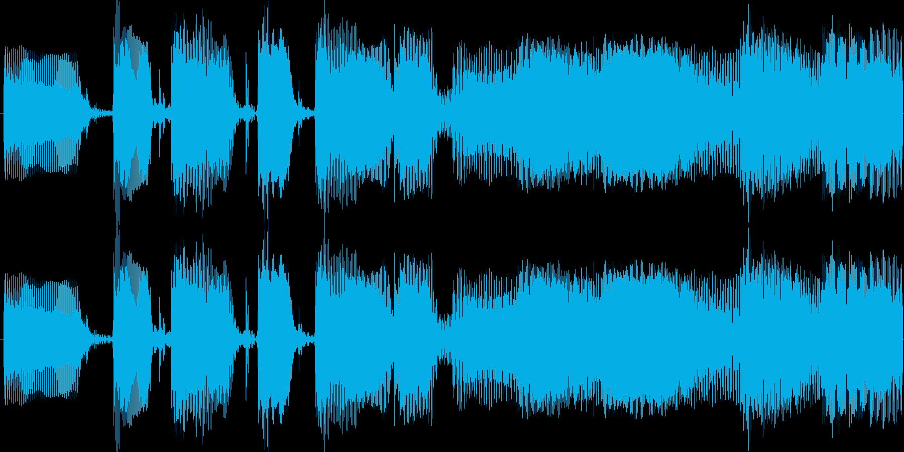 ファンキーでクールなスラップベース素材の再生済みの波形
