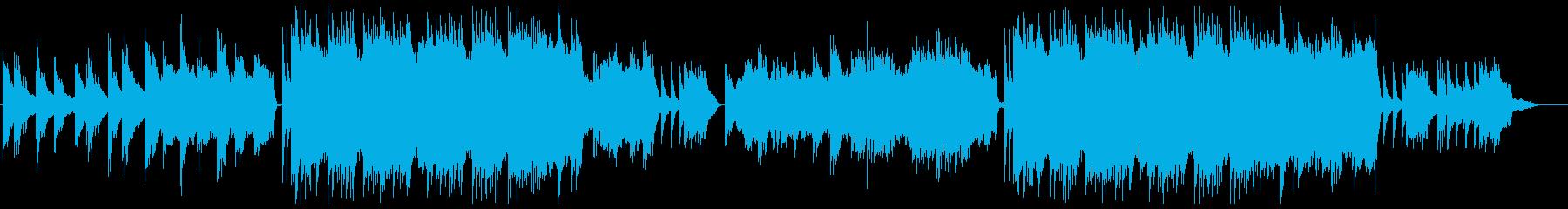 儚いイメージのピアノとストリングスの再生済みの波形