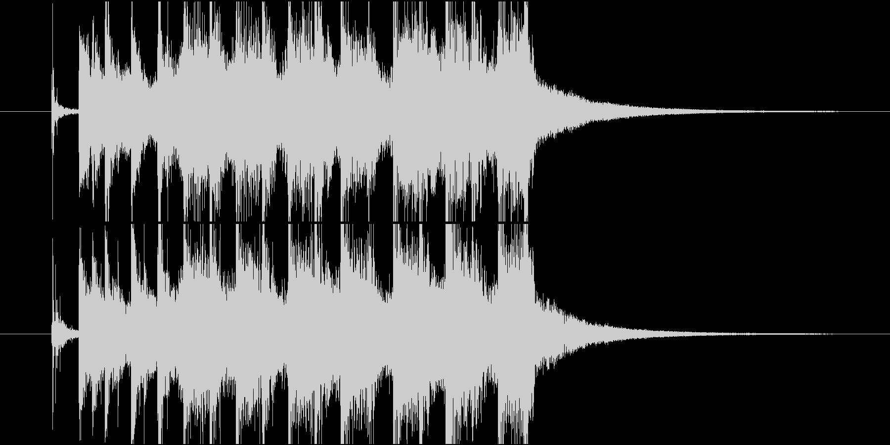 ジングル(ポップ5)の未再生の波形