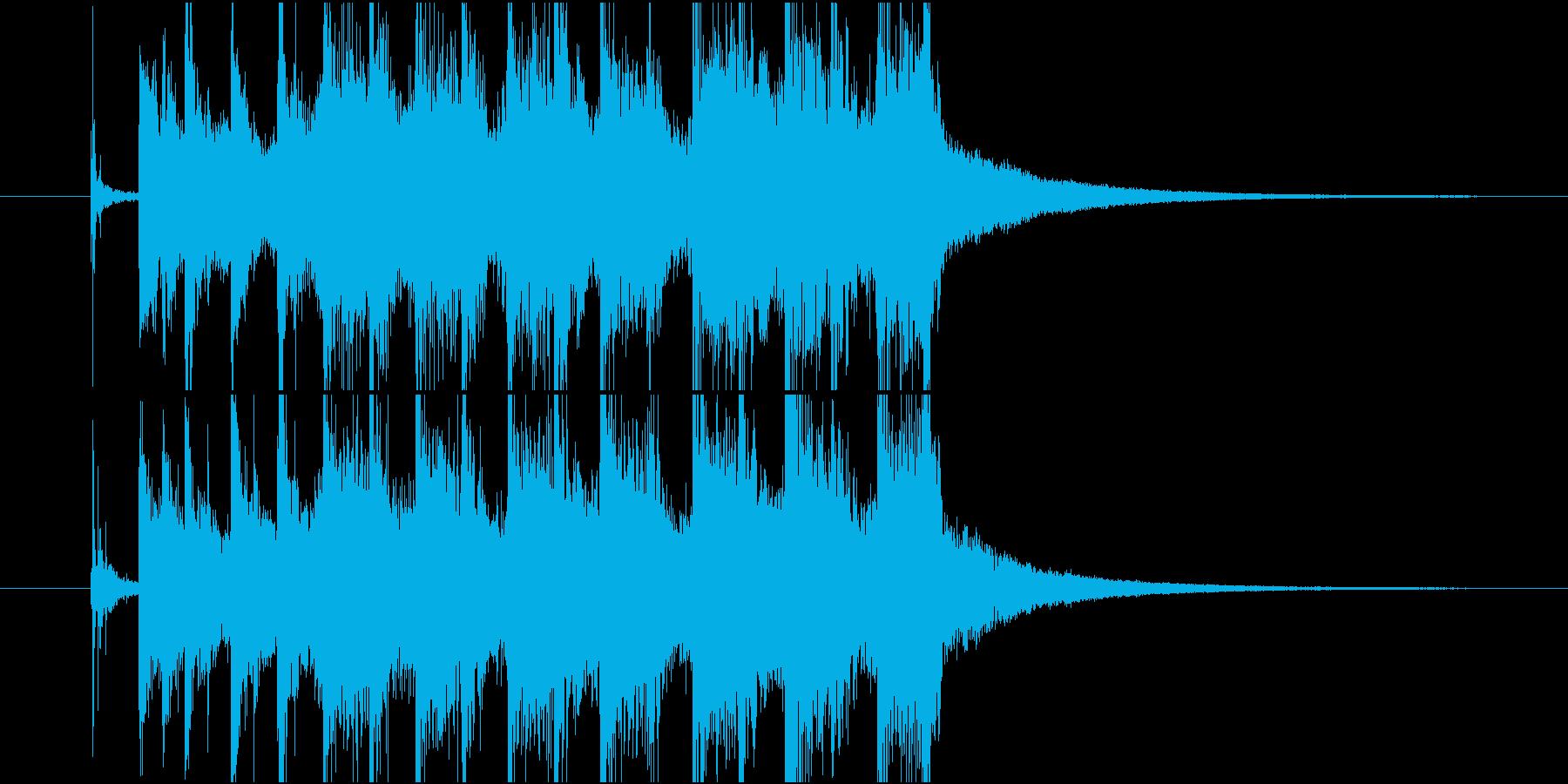 ジングル(ポップ5)の再生済みの波形