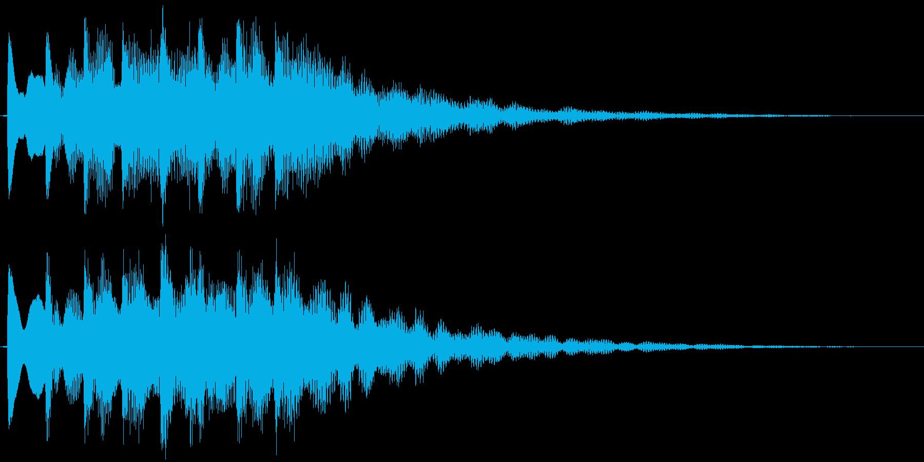 キラキラ系(爽やか)の再生済みの波形