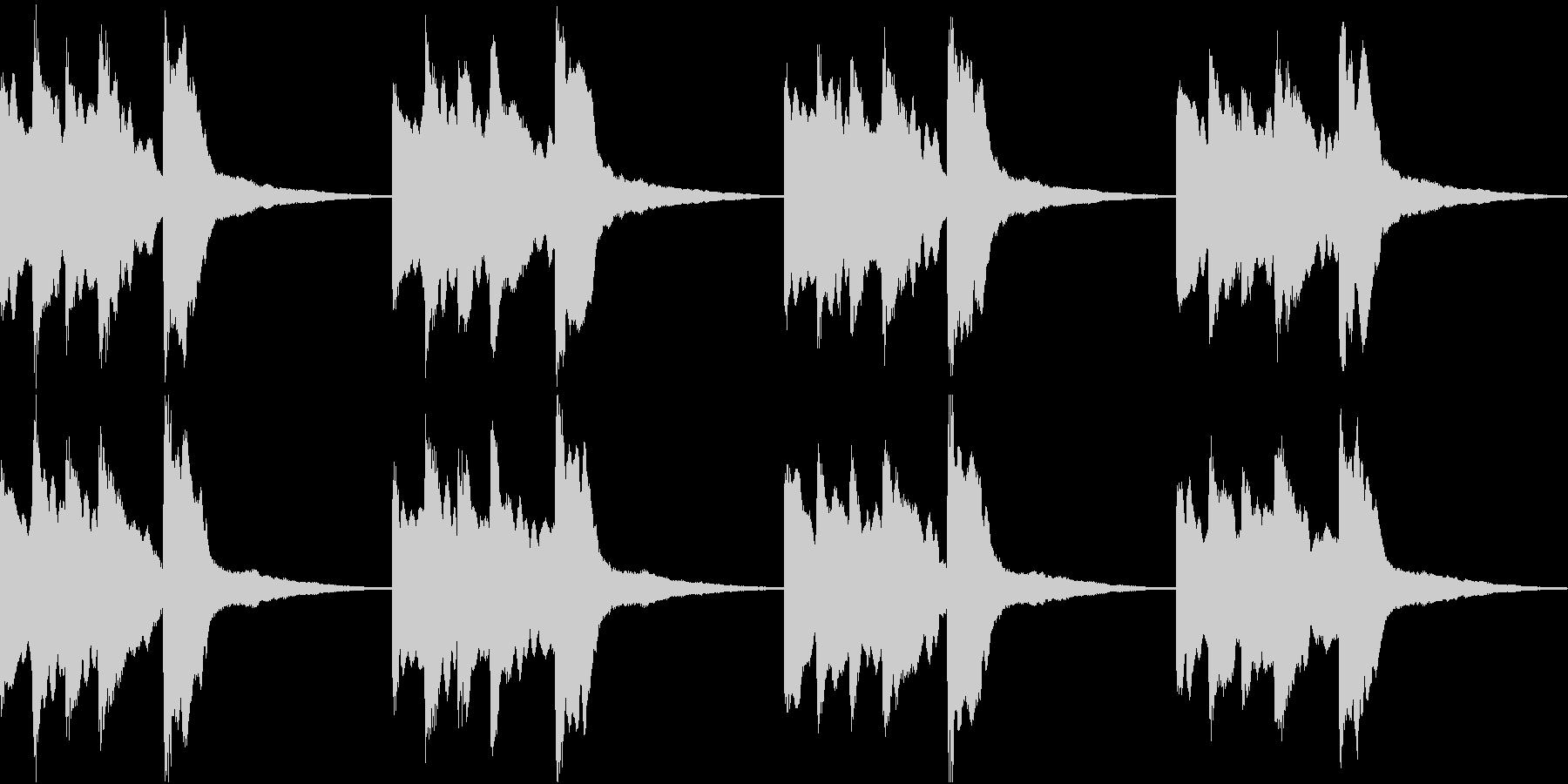 シンプル ベル 着信音 チャイム B-6の未再生の波形