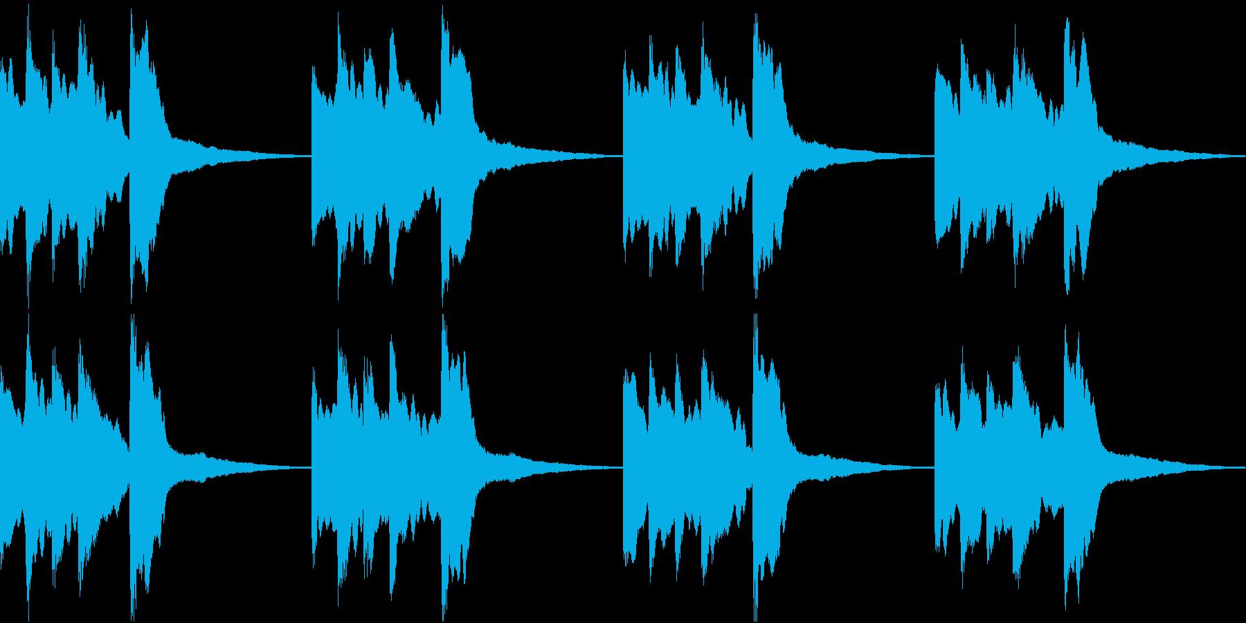 シンプル ベル 着信音 チャイム B-6の再生済みの波形