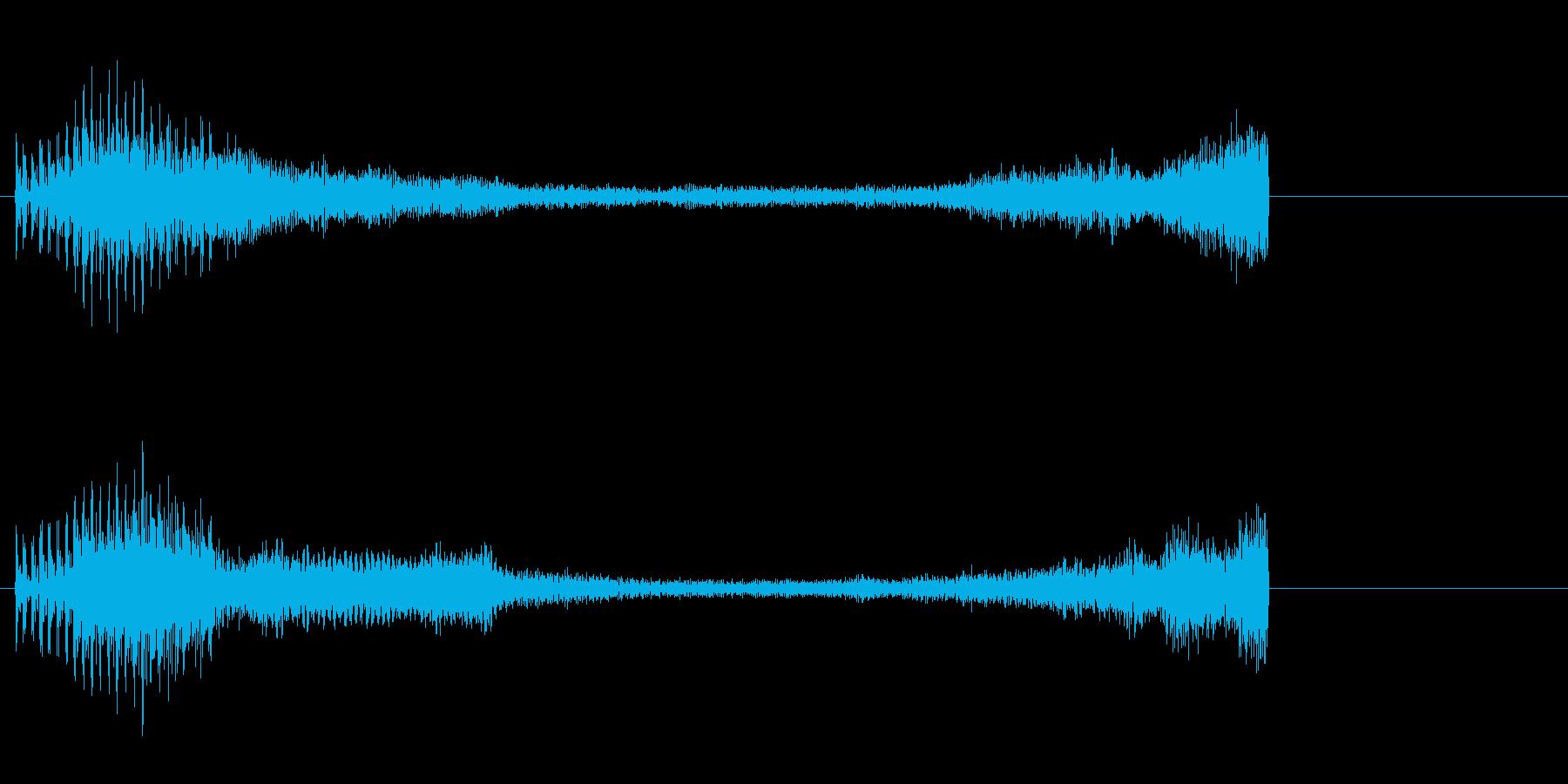 緊張感が残るピアノのジングルBの再生済みの波形