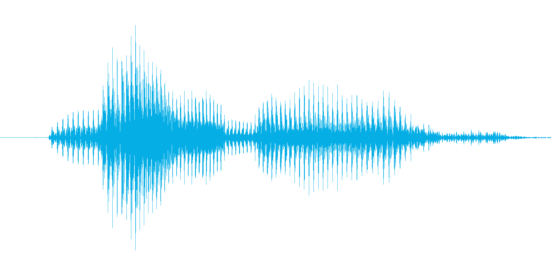 「9 AM」英語発音の再生済みの波形