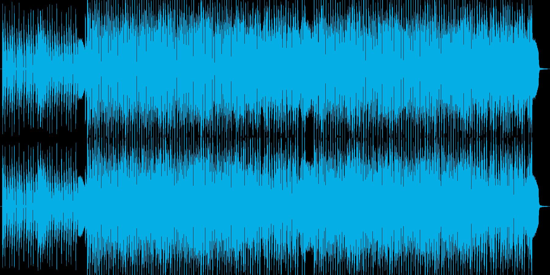 エッジ少なめなダブステップBGMの再生済みの波形