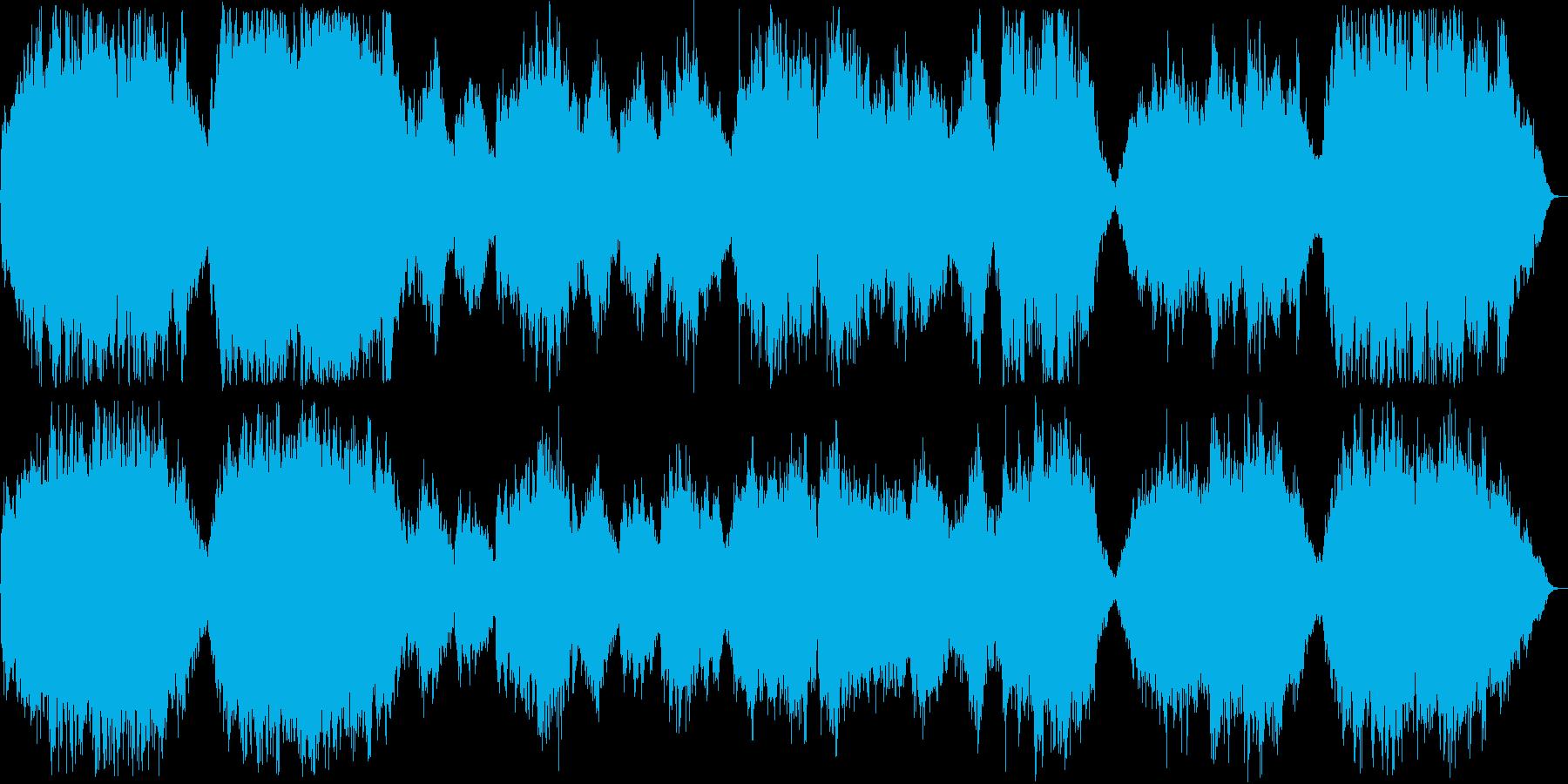 雄大なイメージのオーケストラの再生済みの波形
