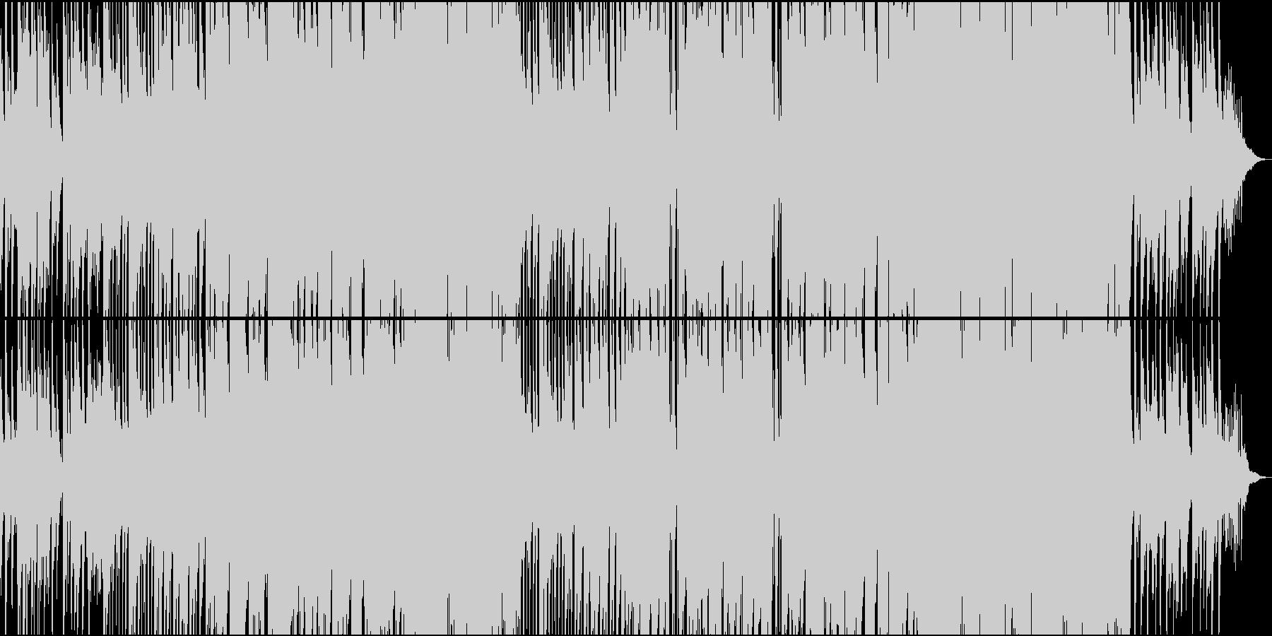 アコースティックな静かなラウンジ曲の未再生の波形
