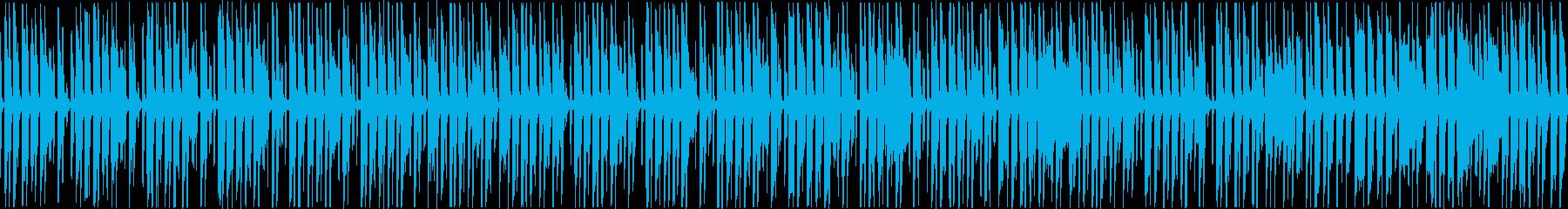 ピコピコした可愛らしい楽曲。ループ可能の再生済みの波形
