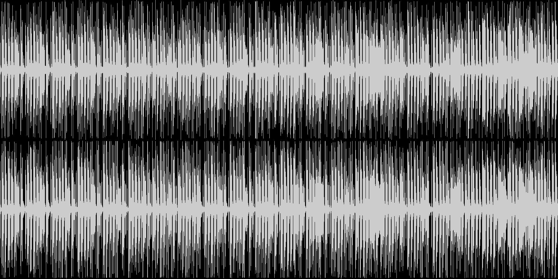 ピコピコした可愛らしい楽曲。ループ可能の未再生の波形