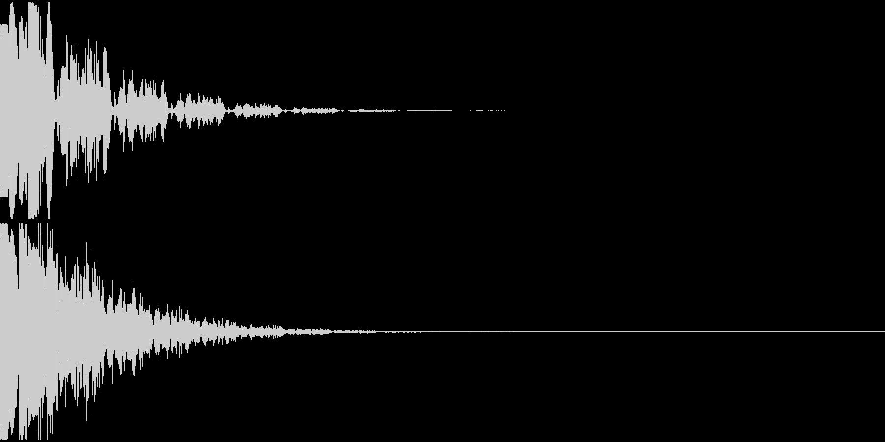 決定音11(電子音)の未再生の波形
