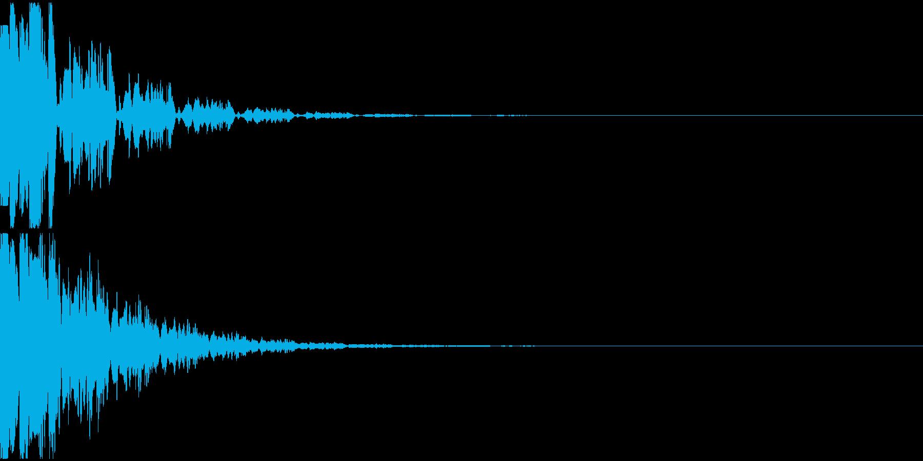 決定音11(電子音)の再生済みの波形