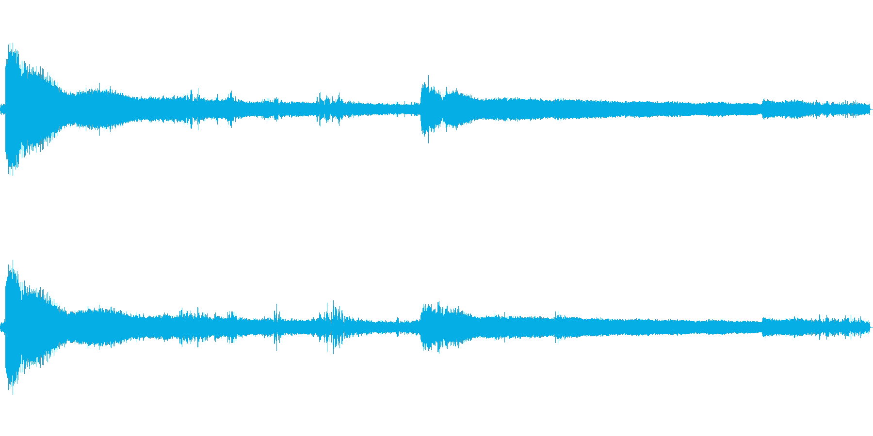 和風の微妙な和音が響いている効果音の再生済みの波形