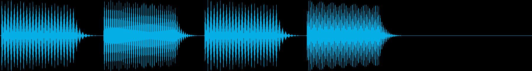 ピロリロ(決定、表示、ヒント)の再生済みの波形