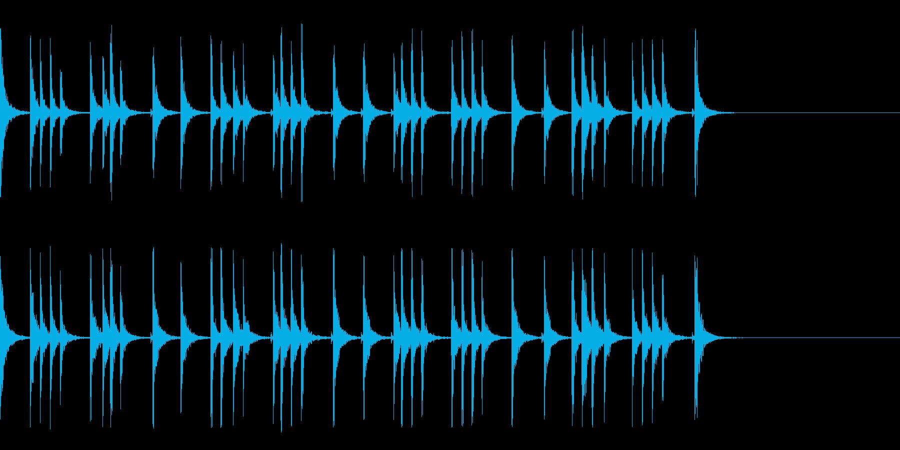 カスタネット!フラメンコフレーズ2の再生済みの波形