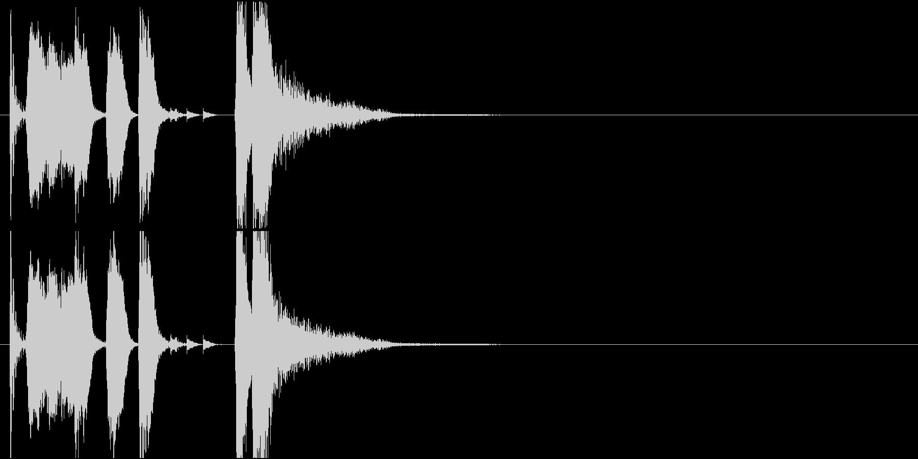 ファンファーレ クイズ ほがらかの未再生の波形