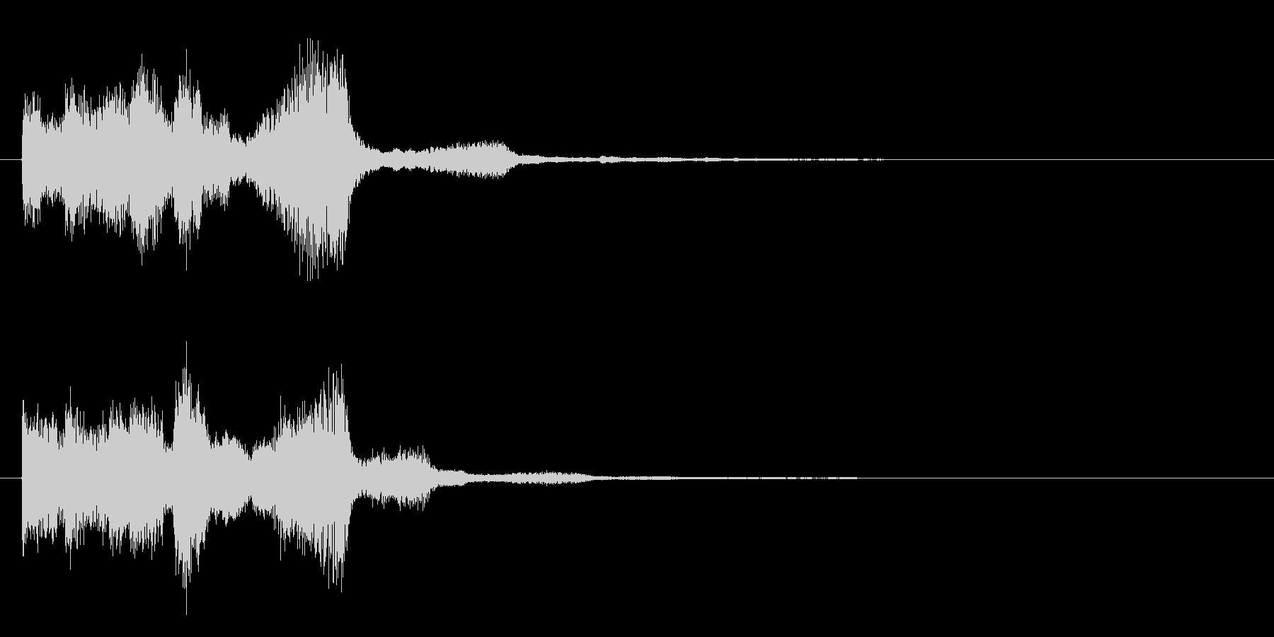 シンセサイザーなジングルの未再生の波形
